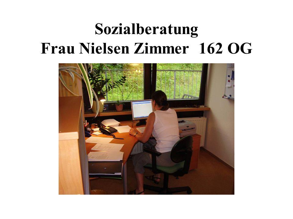 Sozialberatung Frau Nielsen Zimmer 162 OG