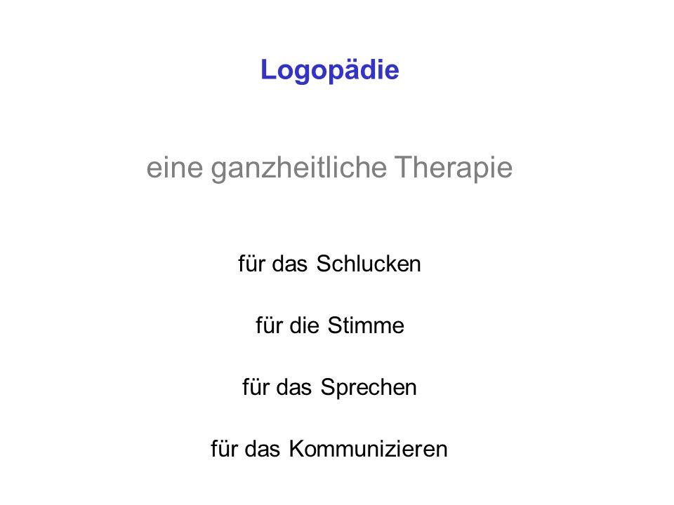 Logopädie eine ganzheitliche Therapie für das Schlucken für die Stimme für das Sprechen für das Kommunizieren