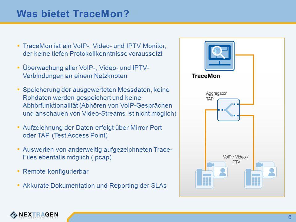 Was liefert TraceMon  Bewertung der RTP-Sessions durch R-Faktor/MOS nach dem E-Model (ITU-T Rec.