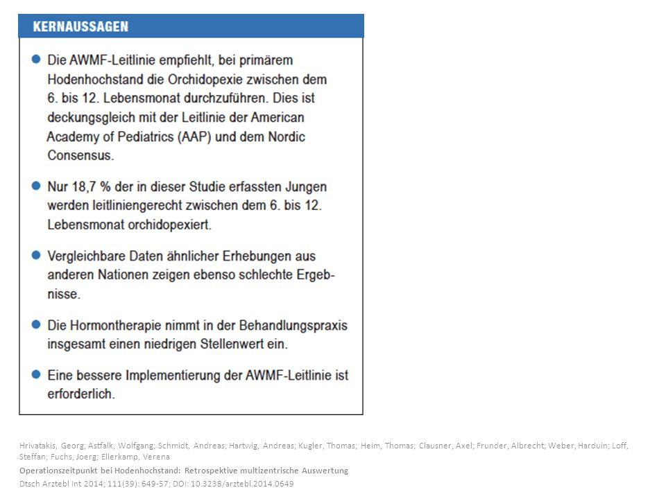 Hrivatakis, Georg; Astfalk, Wolfgang; Schmidt, Andreas; Hartwig, Andreas; Kugler, Thomas; Heim, Thomas; Clausner, Axel; Frunder, Albrecht; Weber, Hard