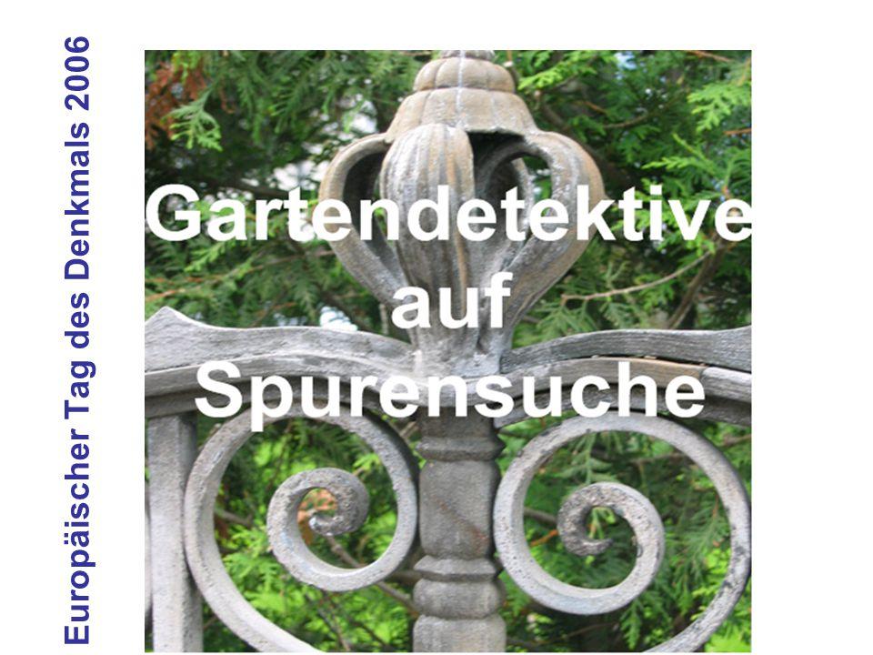Claudia Fischer-Karrer Gartendetektive auf Spurensuche Konzept Anlässlich des Europäischen Tag des Denkmals 2006 fand in Uster ein Schulprojekt zum Thema 'Gartendetektive auf Spurensuche' statt.