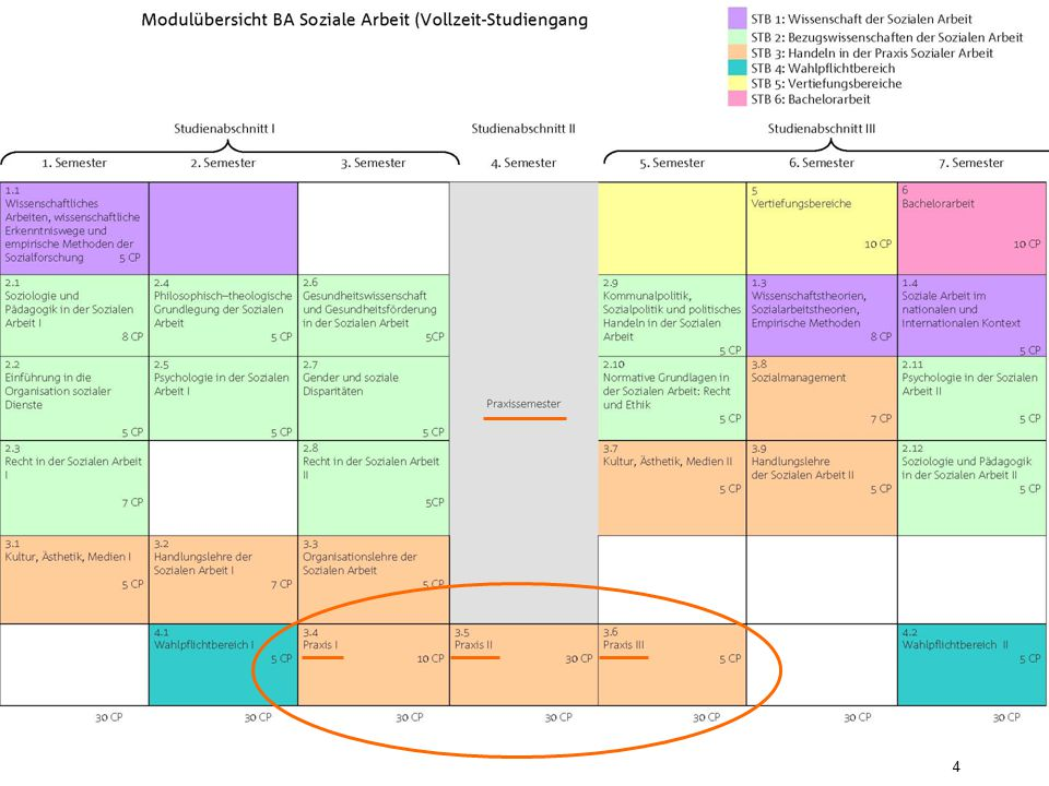Praxisseminare 3.4 bis 3.6 Die Praxisseminare begleiten Sie während aller drei Praxisphasen.
