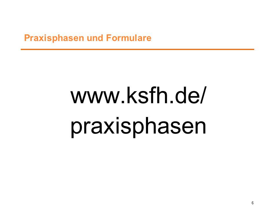 Informationsquellen: Aktuelles, Termine, Materialien und Informationen finden Sie hier:  www.ksfh.de/praxis-center  Aushang Praxis-Center, J-Bau 1.