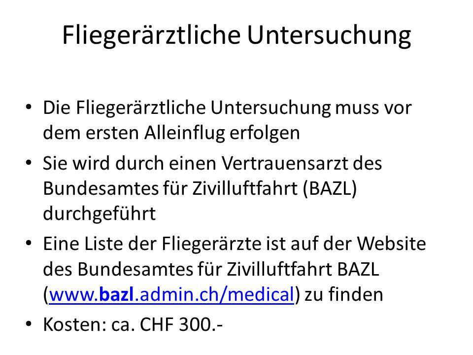 Grundkurs Ort: Flugplatz Birrfeld Dauer: 2 Wochen Zeitraum:Frühling bis Herbst Ziele: 1.