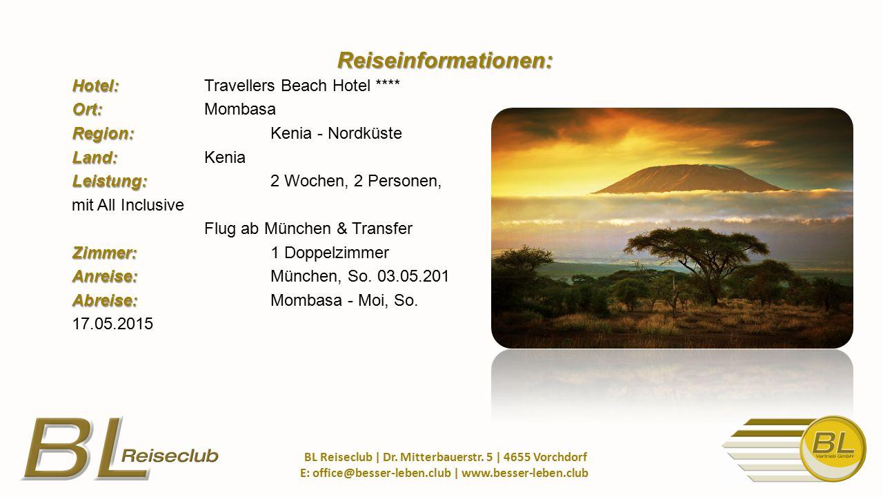 1.Person (Erw.) nur 1.125,- EUR 2. Person (Erw.) nur 1.125,- EUR BL Reiseclub   Dr.