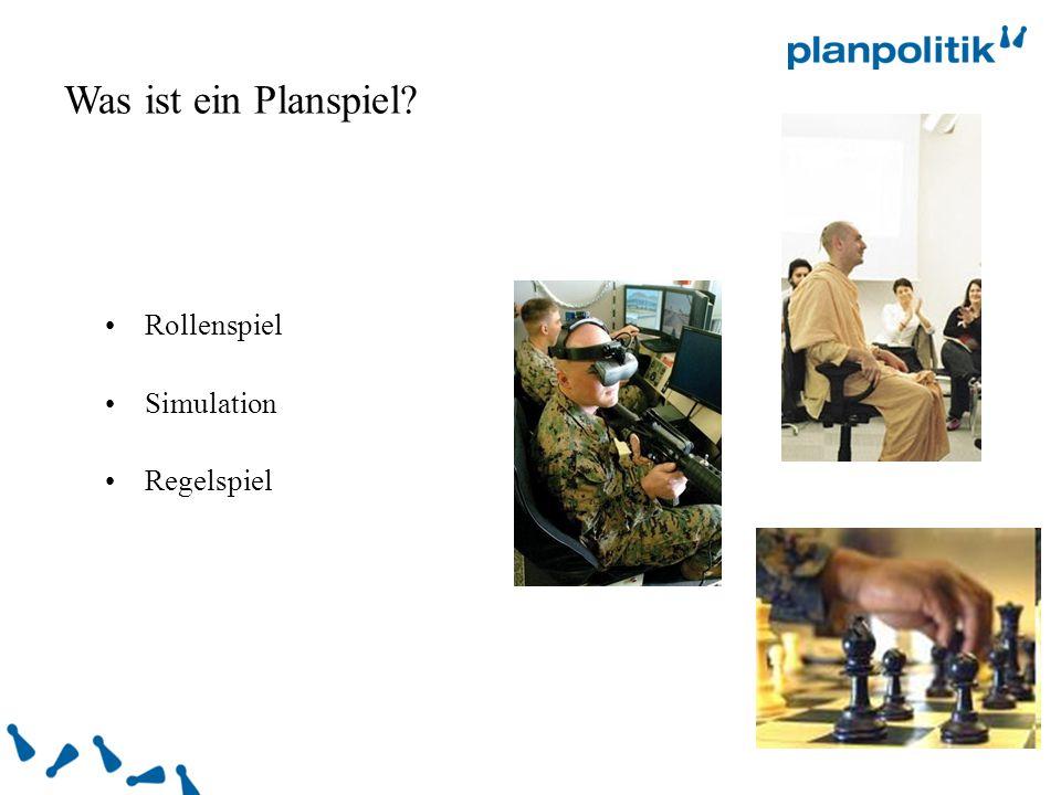 Rollenspiel Simulation Regelspiel Was ist ein Planspiel?