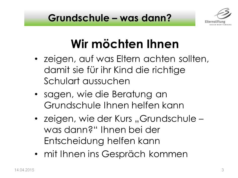 - Grundschule – was dann.
