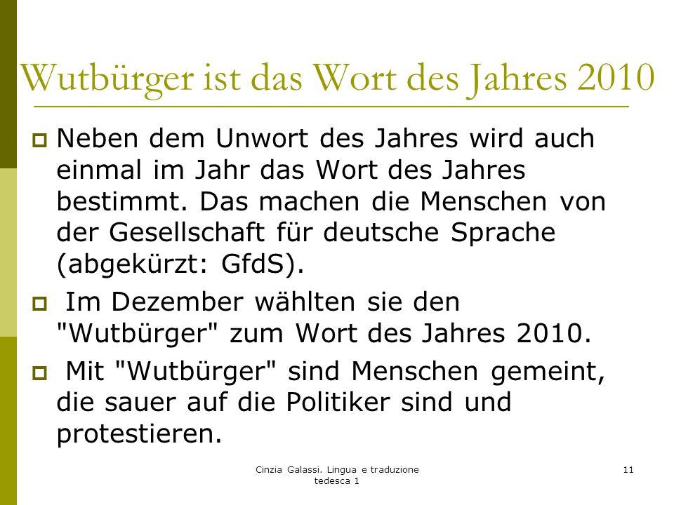  Neben dem Unwort des Jahres wird auch einmal im Jahr das Wort des Jahres bestimmt. Das machen die Menschen von der Gesellschaft für deutsche Sprache