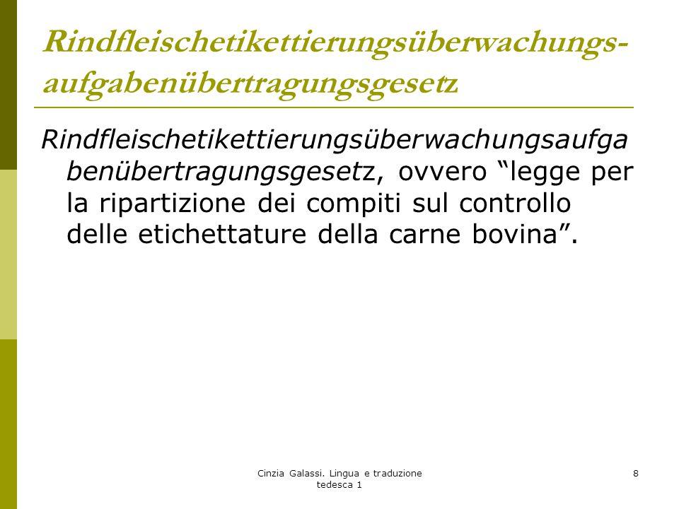 """Rindfleischetikettierungsüberwachungs- aufgabenübertragungsgesetz Rindfleischetikettierungsüberwachungsaufga benübertragungsgesetz, ovvero """"legge per"""