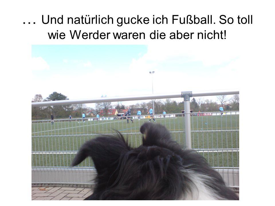 … Und natürlich gucke ich Fußball. So toll wie Werder waren die aber nicht!