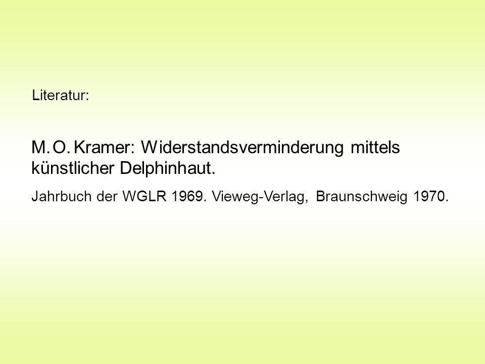 M.O. Kramer: Widerstandsverminderung mittels künstlicher Delphinhaut.