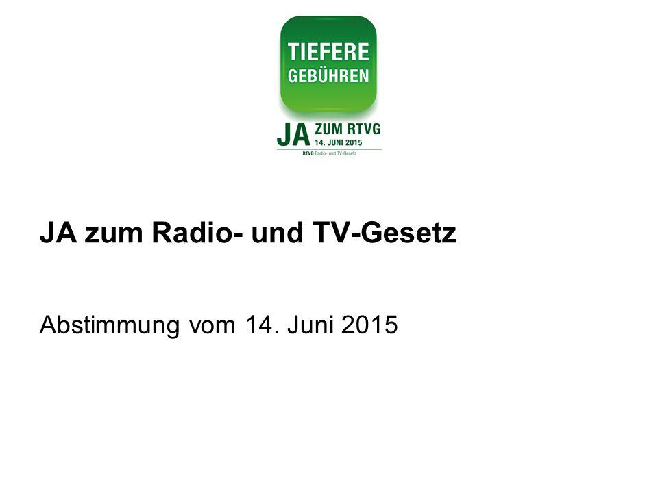 JA zum Radio- und TV-Gesetz Abstimmung vom 14. Juni 2015