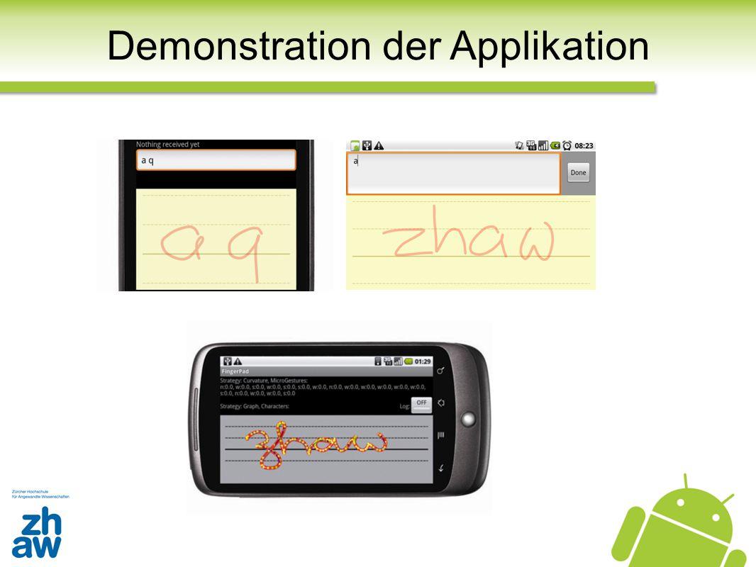 Demonstration der Applikation