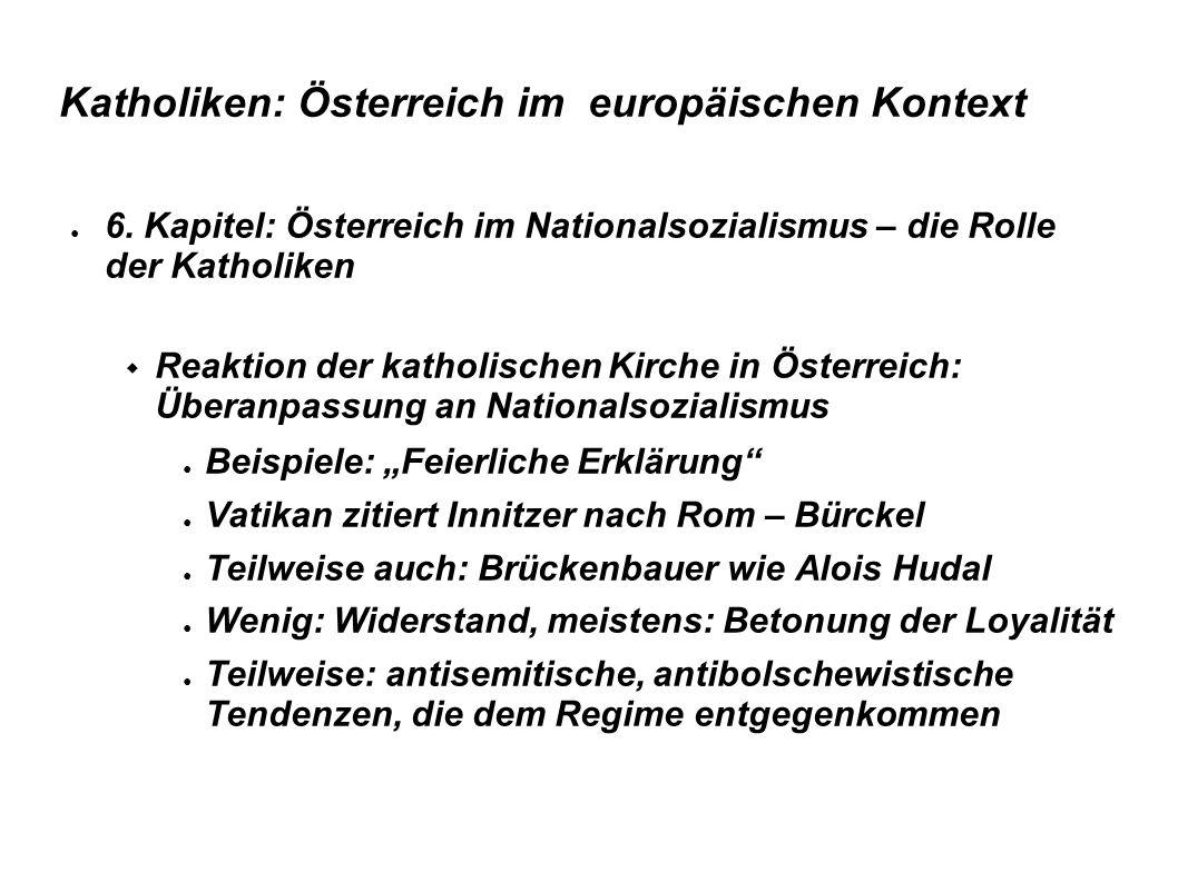 Katholiken: Österreich im europäischen Kontext ● 6.