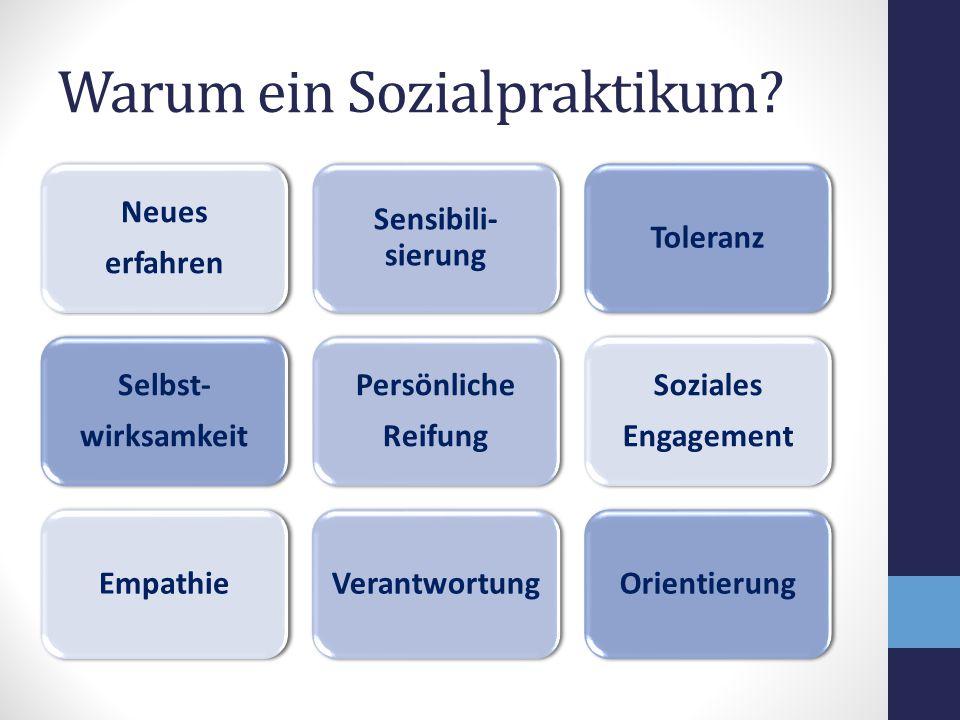 Warum ein Sozialpraktikum.