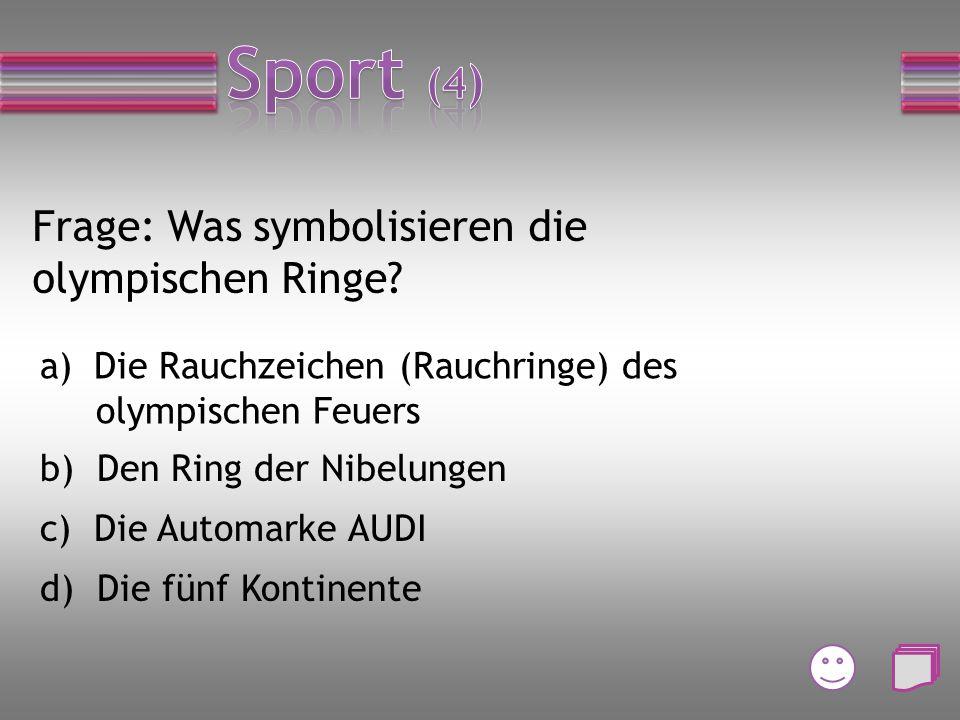 Frage: Wie heißt ein Sportverein in Cuxhaven? a) ATSC b) HSV c) ASV d) SSV