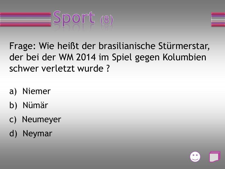 Frage: Wie lautet die Abkürzung des Weltfußballverbandes? a) IFA b) FIAT c) FATI d) FIFA