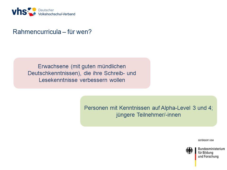 Rahmencurricula – für wen.