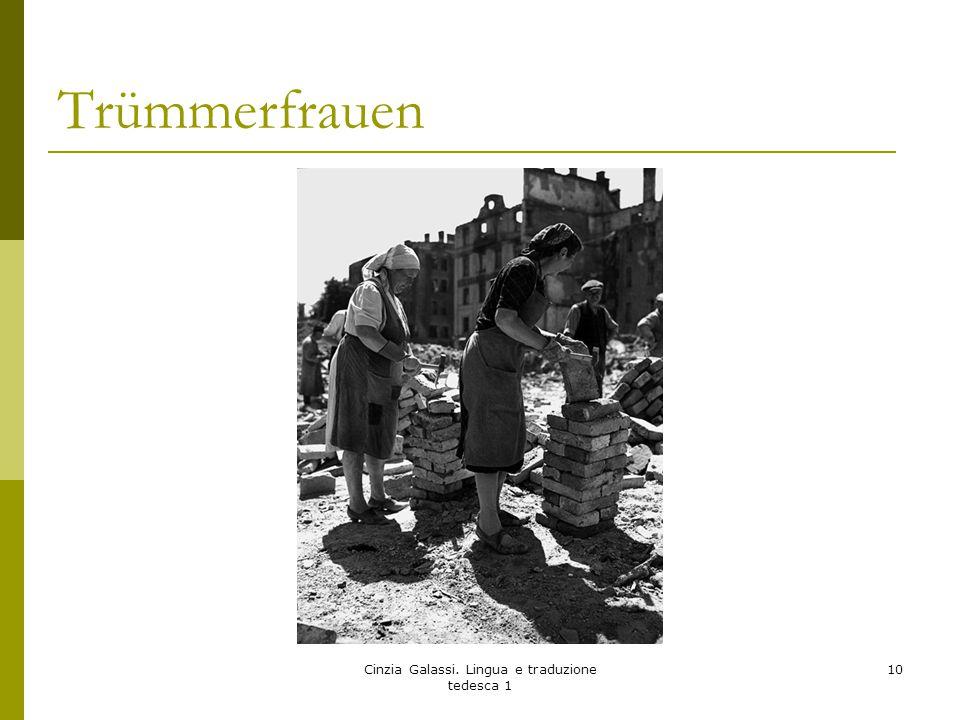 Trümmerfrauen Cinzia Galassi. Lingua e traduzione tedesca 1 10