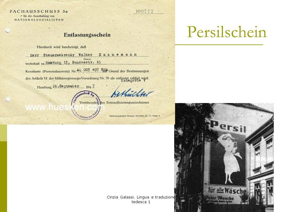 Persilschein Cinzia Galassi. Lingua e traduzione tedesca 1 18