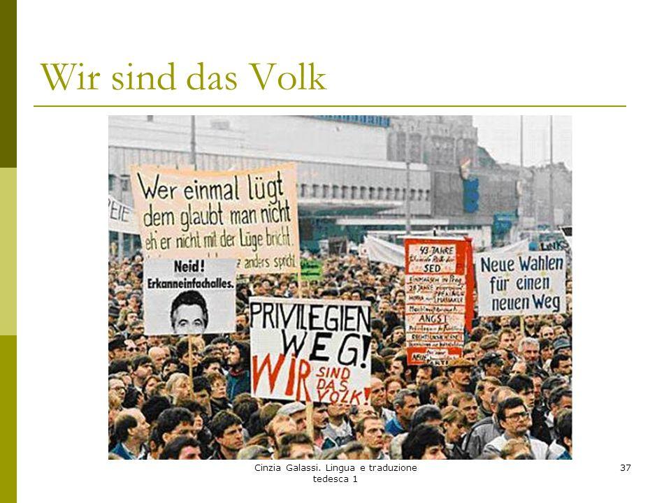 Wir sind das Volk Cinzia Galassi. Lingua e traduzione tedesca 1 37