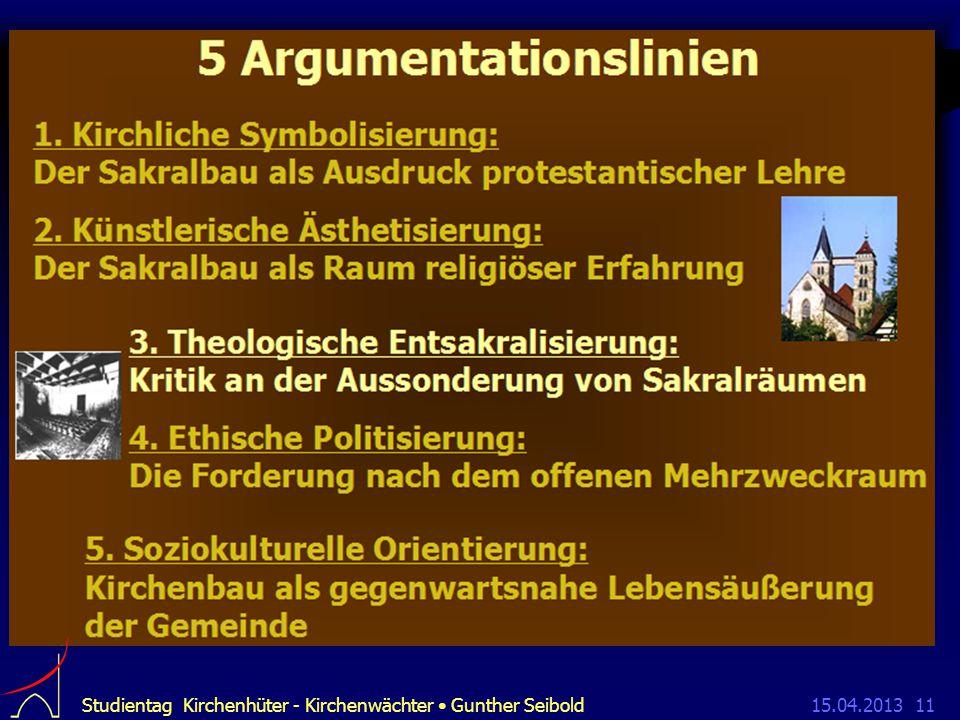 15.04.2013Studientag Kirchenhüter - Kirchenwächter Gunther Seibold11