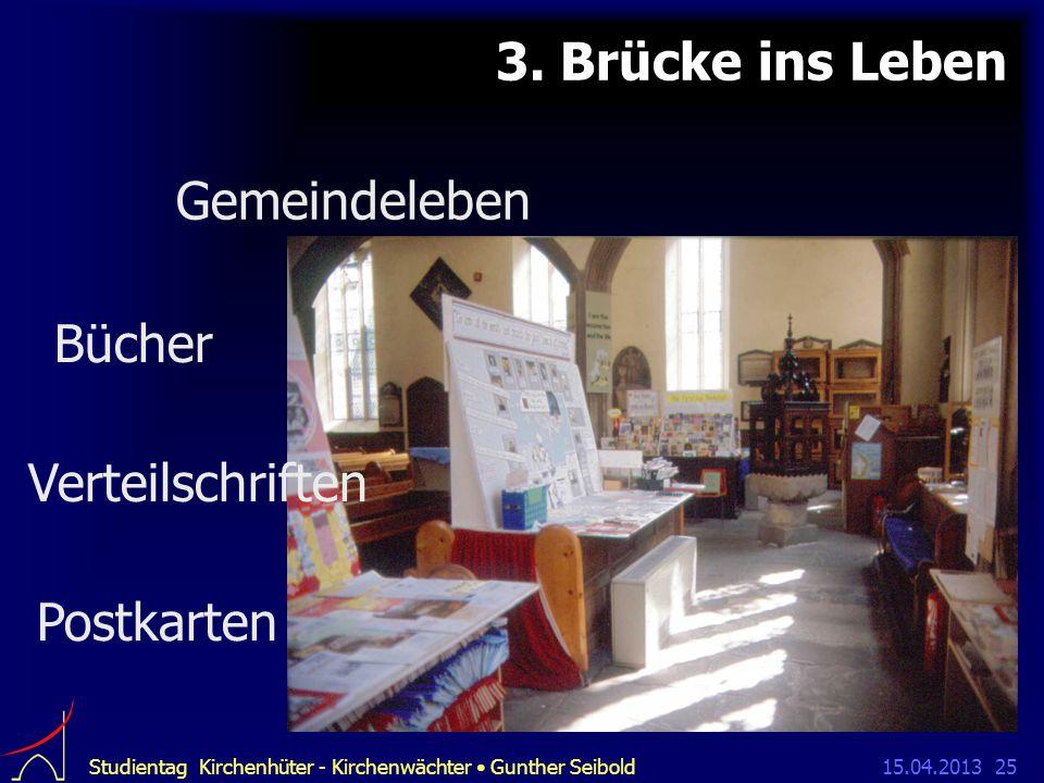 15.04.2013Studientag Kirchenhüter - Kirchenwächter Gunther Seibold25 3.