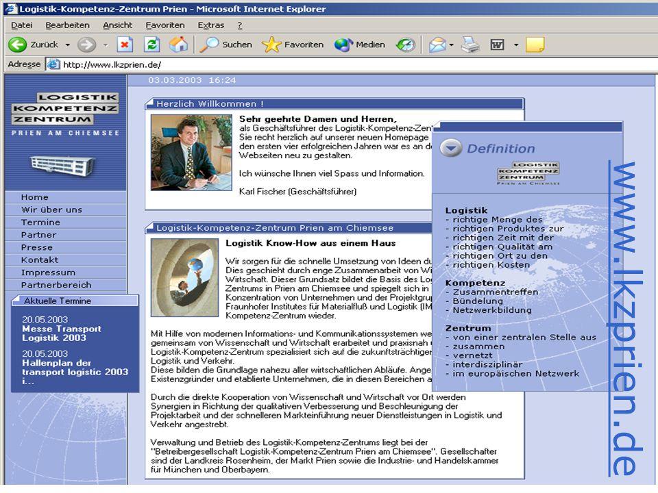 Symposium Holzlogistik - 10. April 2003 - Holztechnikum Kuchl www.lkzprien.de