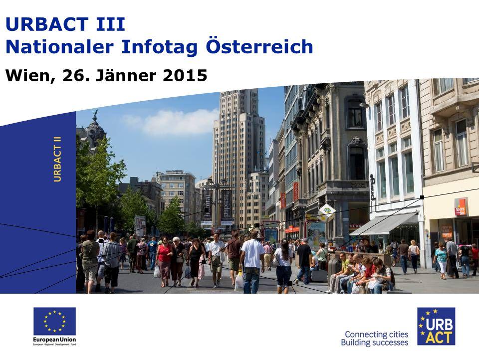 URBACT III – 3 Netzwerktypen  Aktionsplanungs-Netzwerke  Umsetzungs-Netzwerke  Transfer-Netzwerke