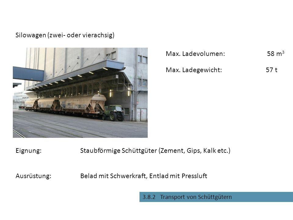 3.8.3 Transport von Containern und Fahrzeugen Tragwagen für Container und Wechselbehälter Eignung:Für Grosscontainer und Wechselbehälter Max.