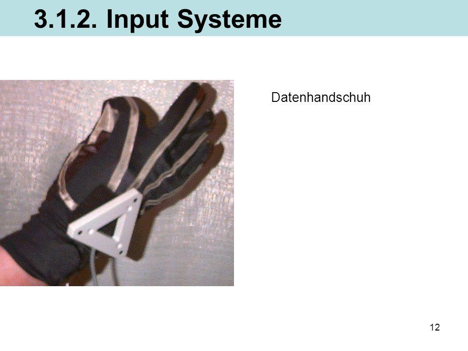 12 Datenhandschuh 3.1.2. Input Systeme