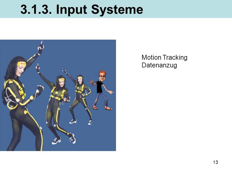 13 Motion Tracking Datenanzug 3.1.3. Input Systeme