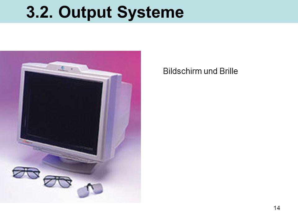 14 3.2. Output Systeme Bildschirm und Brille