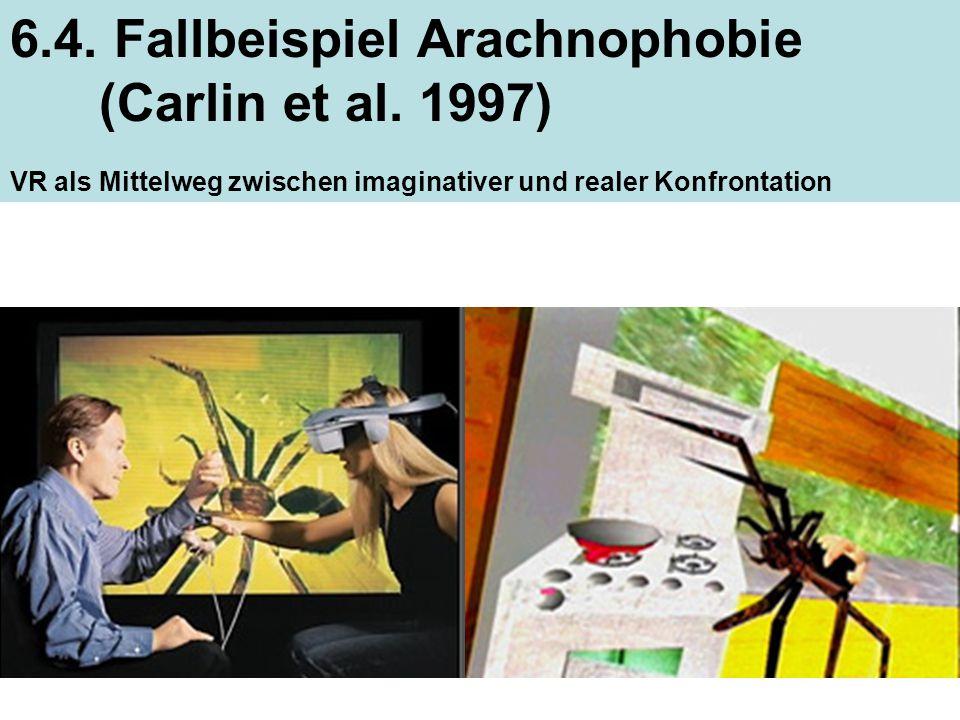 25 6.4. Fallbeispiel Arachnophobie (Carlin et al. 1997) VR als Mittelweg zwischen imaginativer und realer Konfrontation