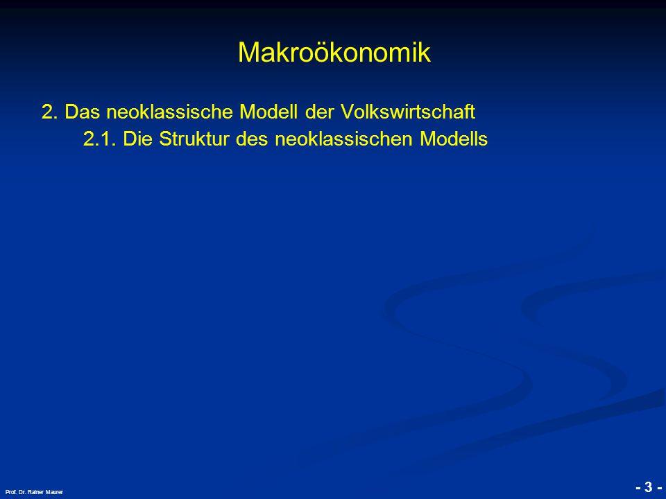 © RAINER MAURER, Pforzheim - 3 - Prof.Dr. Rainer Maurer Makroökonomik 2.