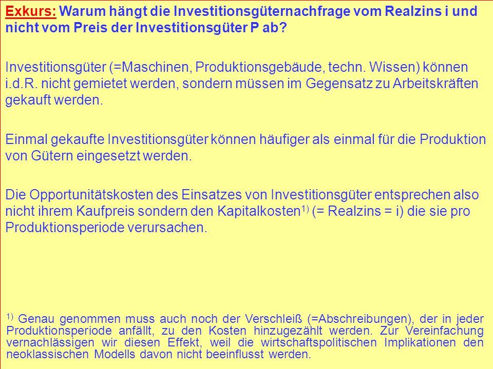 © RAINER MAURER, Pforzheim - 64 - Prof. Dr. Rainer Maurer Investment Demand of Firms L 2 > L 1 i I I( i, L 1 ) − Due to the complementarity of capital