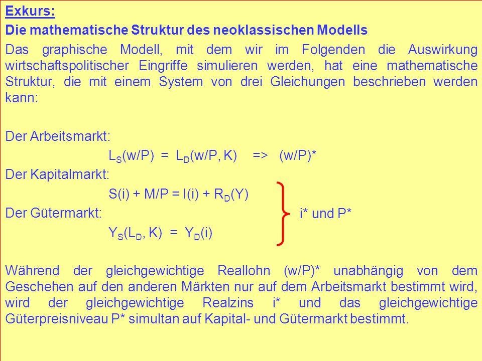 © RAINER MAURER, Pforzheim - 98 - Prof. Dr. Rainer Maurer Exkurs: Die mathematische Struktur des neoklassischen Modells Das graphische Modell, mit dem