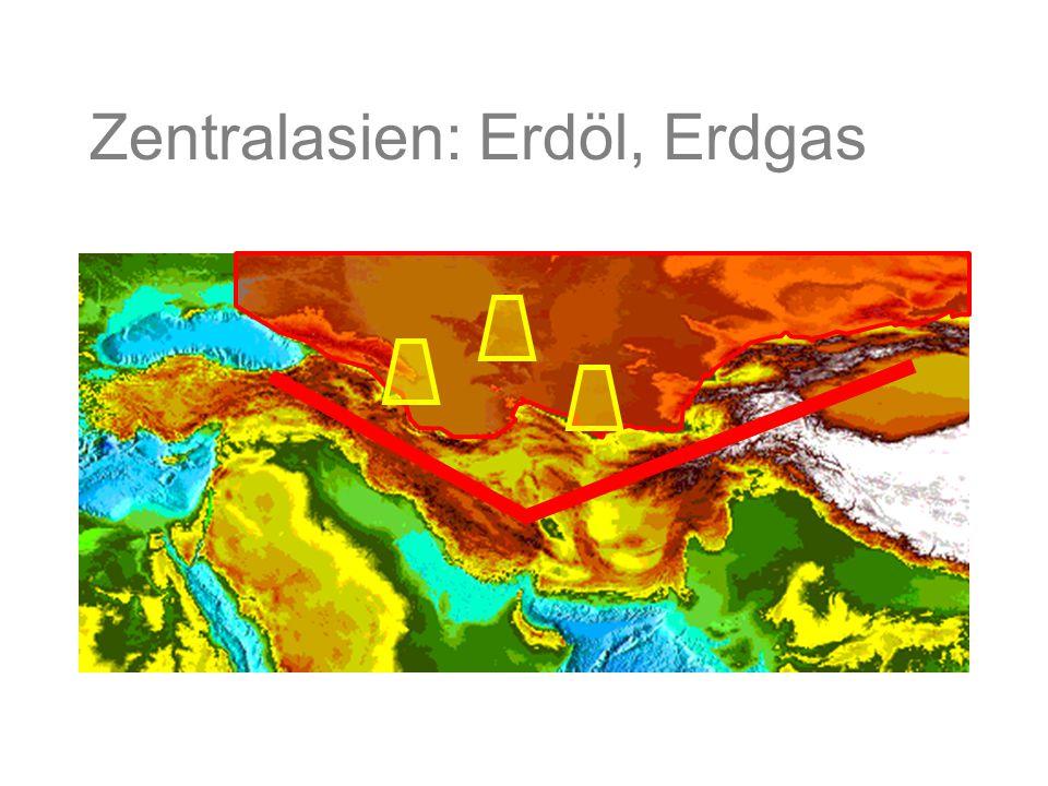 Zentralasien: Erdöl, Erdgas