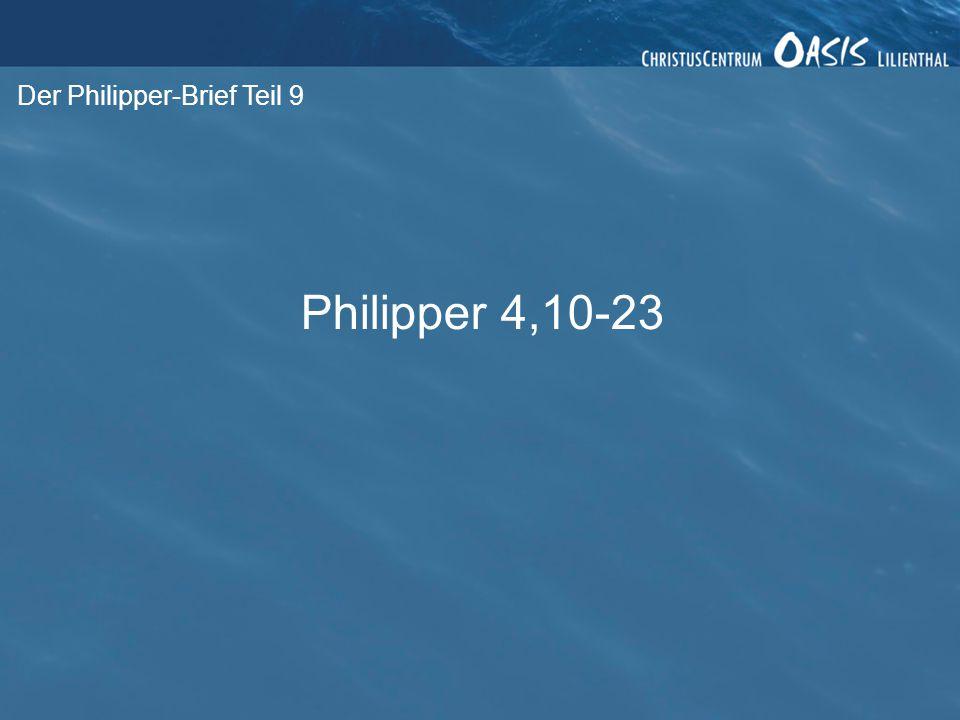 Der Philipper-Brief Teil 9 1.
