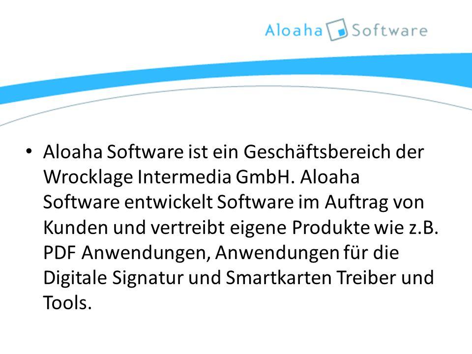 Aloaha Software ist ein Geschäftsbereich der Wrocklage Intermedia GmbH.