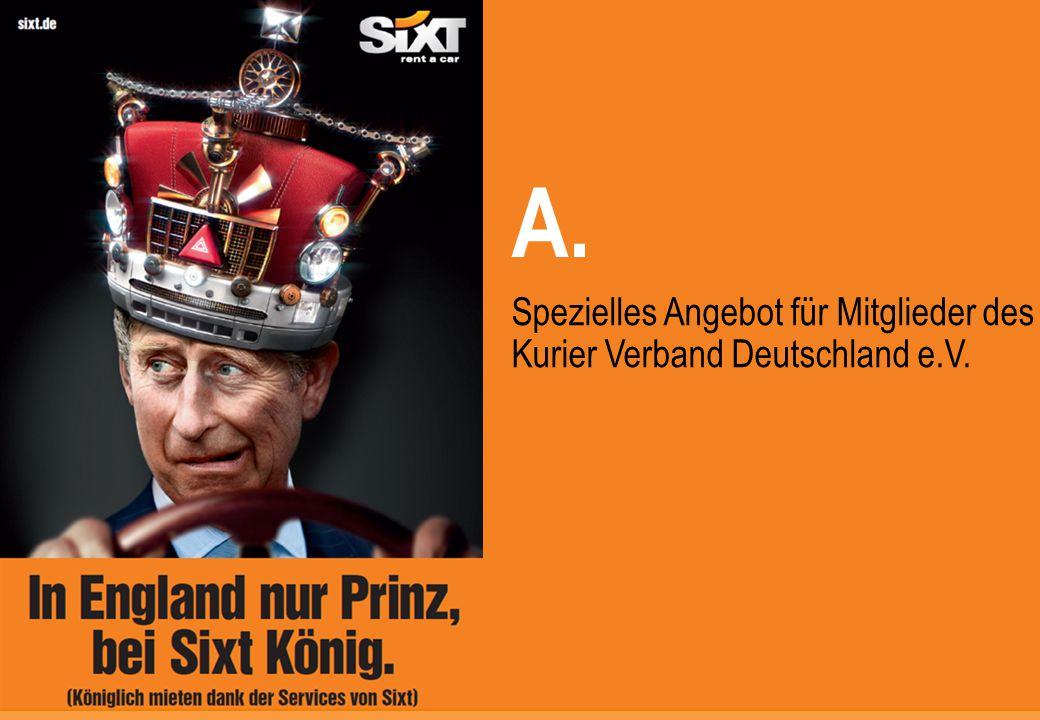 0 Spezielles Angebot für Mitglieder des Kurier Verband Deutschland e.V. A.