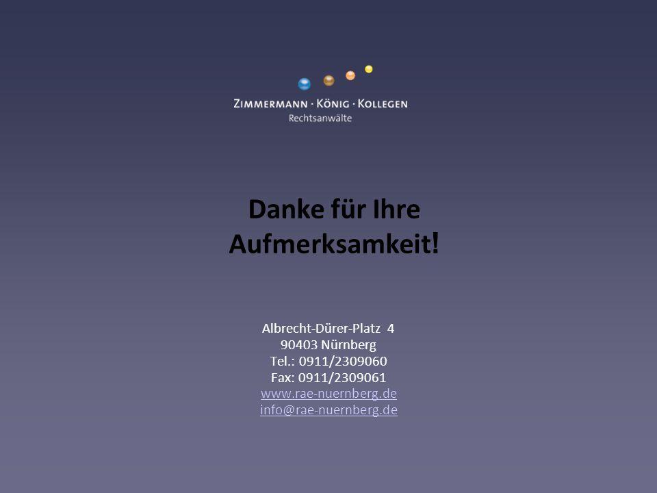 Albrecht-Dürer-Platz 4 90403 Nürnberg Tel.: 0911/2309060 Fax: 0911/2309061 www.rae-nuernberg.de info@rae-nuernberg.de www.rae-nuernberg.de info@rae-nuernberg.de Danke für Ihre Aufmerksamkeit !