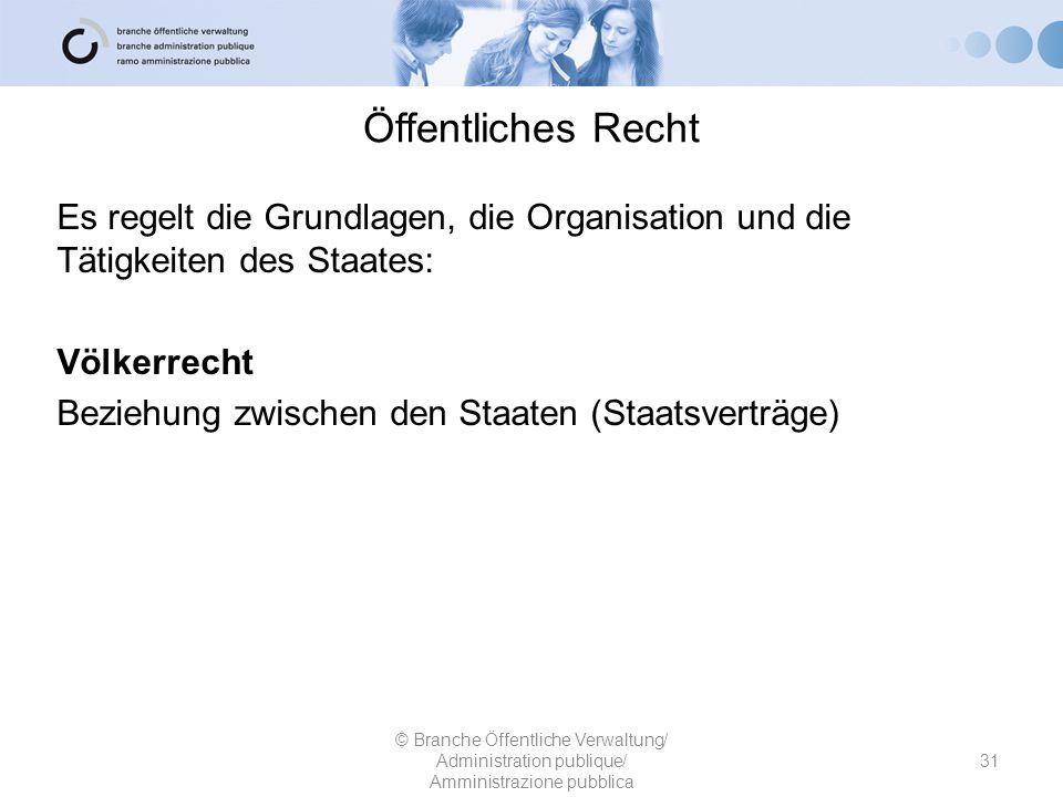 Rechtssammlung 32 © Branche Öffentliche Verwaltung/ Administration publique/ Amministrazione pubblica