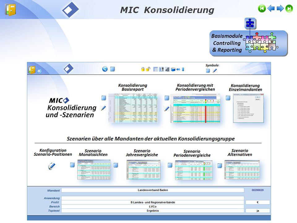 Basismodule Controlling & Reporting MIC Konsolidierung