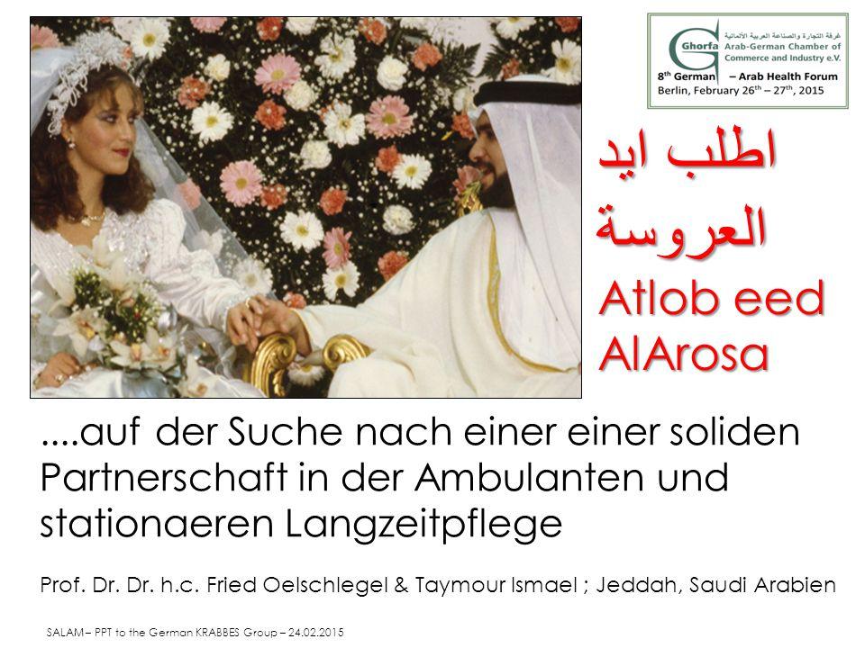 ....auf der Suche nach einer einer soliden Partnerschaft in der Ambulanten und stationaeren Langzeitpflege Prof. Dr. Dr. h.c. Fried Oelschlegel & Taym