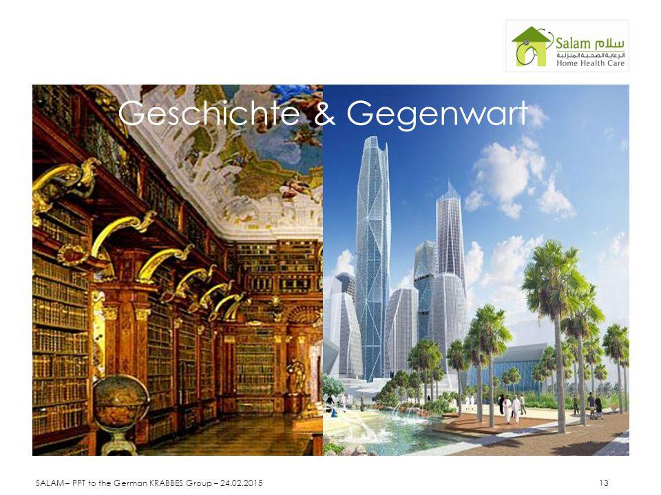 Geschichte & Gegenwart SALAM – PPT to the German KRABBES Group – 24.02.2015 13