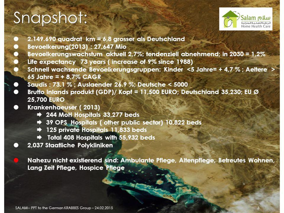 Snapshot:  2.149.690 quadrat km = 6,8 grosser als Deutschland  Bevoelkerung(2013) : 27,647 Mio  Bevoelkerungswachstum aktuell 2,7%; tendenziell abn