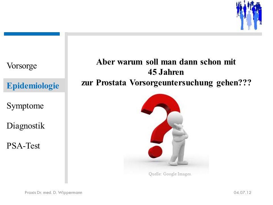 Kritik am PSA-Test 04.07.12Praxis Dr.med. D.
