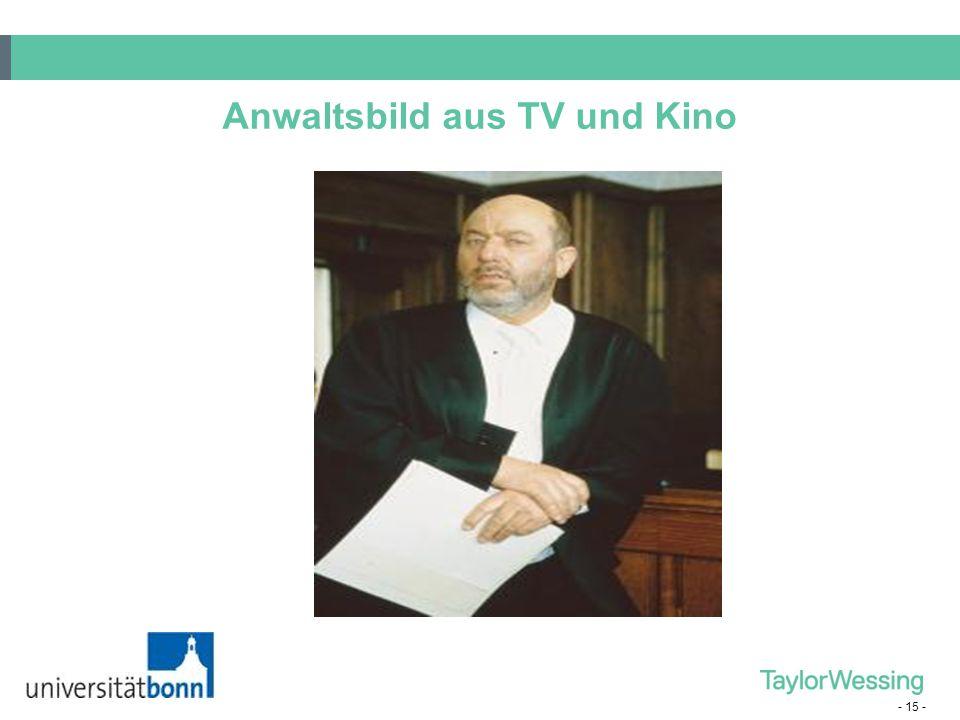 - 15 - Anwaltsbild aus TV und Kino