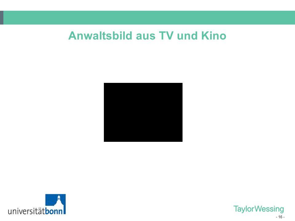 - 16 - Anwaltsbild aus TV und Kino